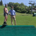 Neveplast realized the longest dry ski slope in the world